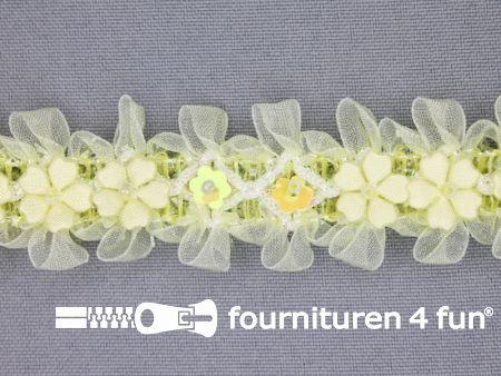Bloemenkant 27mm licht geel