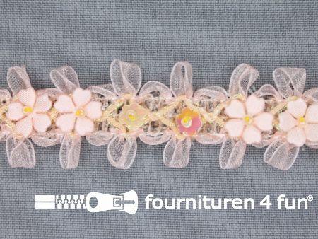 Bloemenkant 27mm zalm