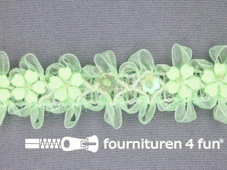 Bloemenkant 27mm licht groen