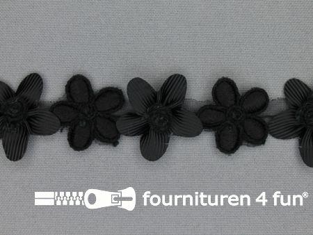 Bloemenkant 33mm zwart