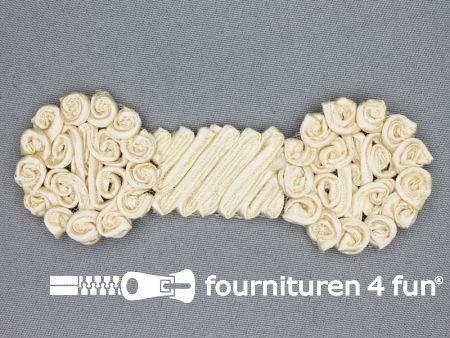 Brocante applicatie 48x123mm design licht beige