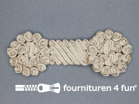 Brocante applicatie 48x123mm design donker beige