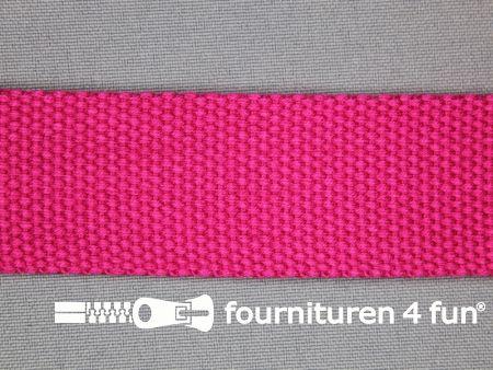 Katoen-look tassenband 32mm fuchsia