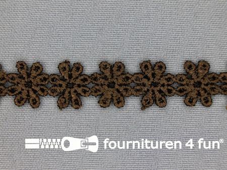 Bloemenkant 14mm donker bruin