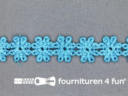 Bloemenkant 14mm aqua blauw