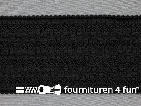 Design elastiek 70mm zwart