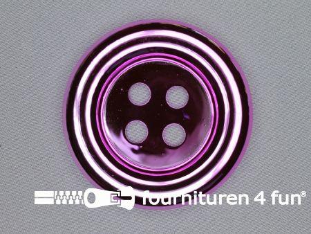 Clown knoop metallic 72mm cyclaam fuchsia