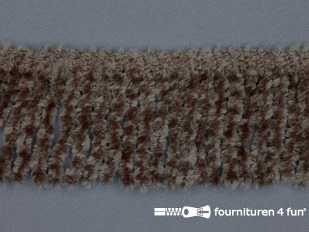 Chenille franje 60mm taupe