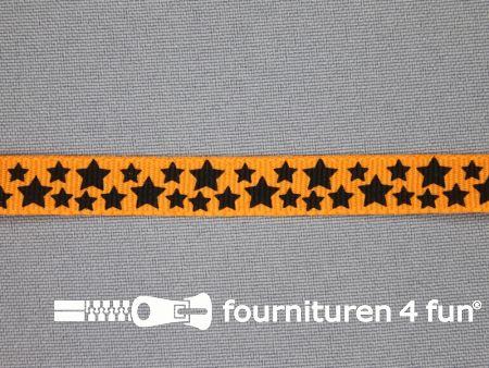 Deco lint sterren 10mm oranje
