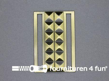 Inhaakgesp 60mm geel brons