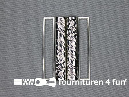 Inhaakgesp 50mm zilver