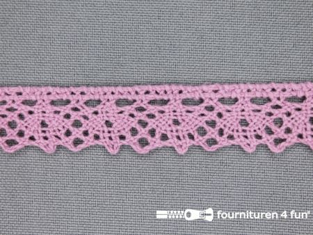 Ibiza broderie 15mm oud roze