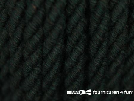 Katoenen meubel koord 5mm donker groen