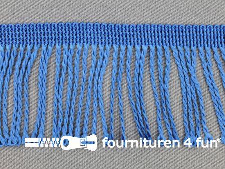 Nylon franje 60mm kobalt blauw