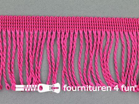 Nylon franje 60mm fuchsia roze