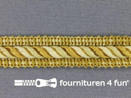 Meubel - paspelband multicolor 12mm goud-geel
