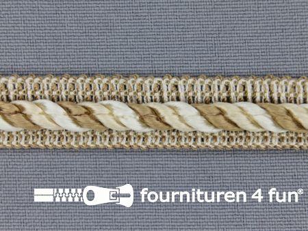 Meubel - paspelband multicolor 12mm beige - ecru
