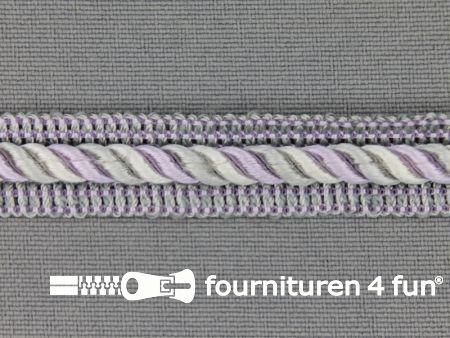 Meubel - paspelband multicolor 12mm lila - grijs