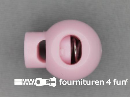 Koord stopper 22mm bal licht roze