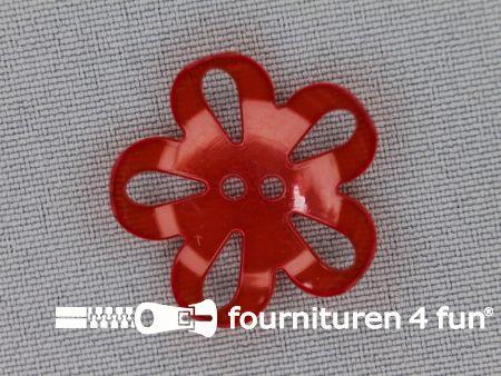 Bloemen knoop 25mm rood