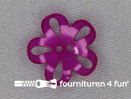 Bloemen knoop 25mm fuchsia