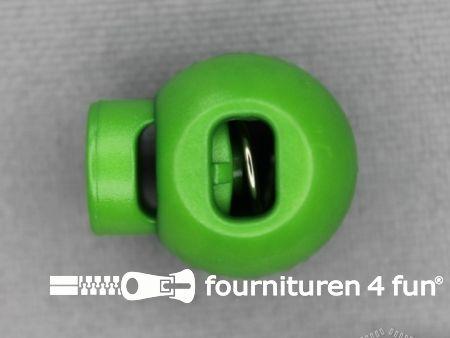 Koord stopper 18mm bal licht groen
