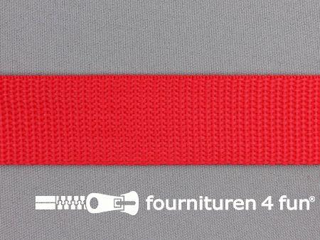 Rol 50 meter PP (polypropyleen) band 30mm rood
