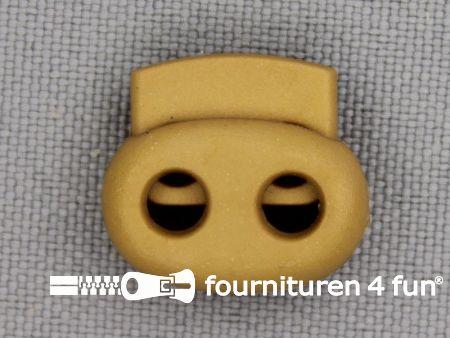 Koord stopper 18mm dubbel camel beige