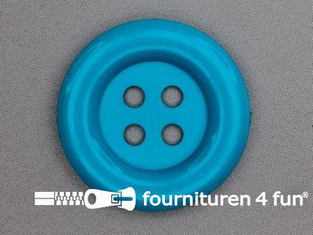 Clown knoop 72mm aqua blauw