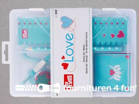 Prym Love  Startset - schaar, naalden, tornmesje, liniaal, markeerpotlood, enz. - 651222