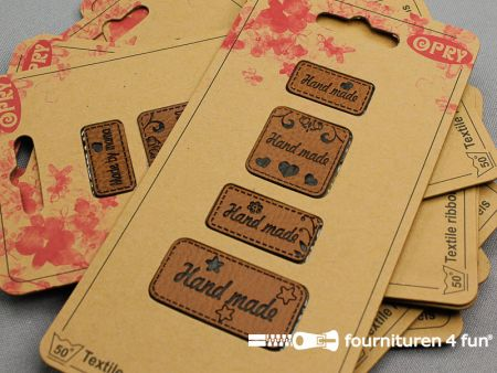 Applicatie - Kunstleder - Hand Made - per set van 7 pakketjes - 28 applicaties