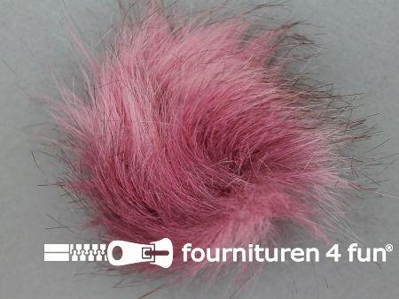 Bont pompon 8cm oud roze