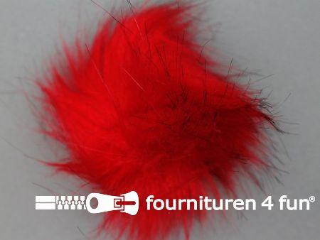 Bont pompon 8cm rood