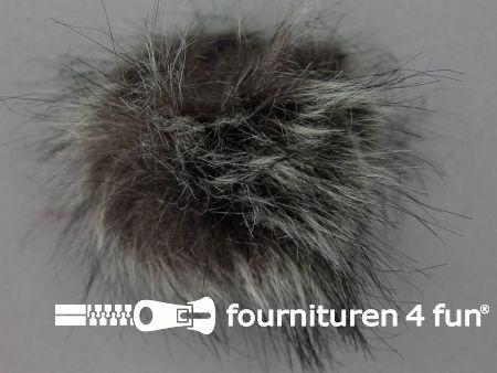 Bont pompon 8cm gemêleerd grijs