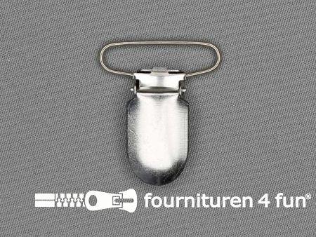Bretelclips 30mm zilver