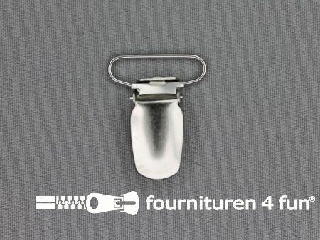 Bretelclips 25mm zilver