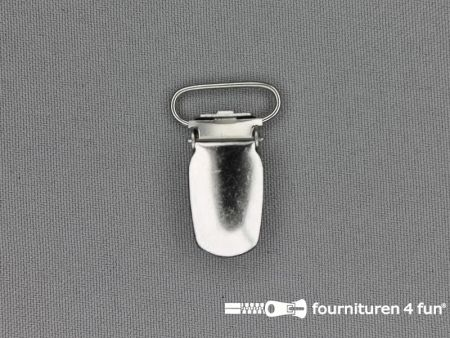 Bretelclips 20mm zilver
