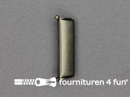 Bretelversteller 36mm antiek zilver