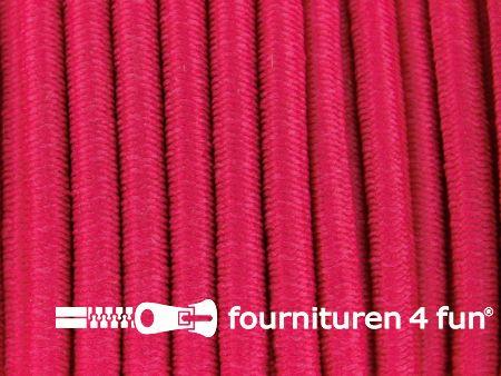 Elastisch koord 3mm fuchsia roze