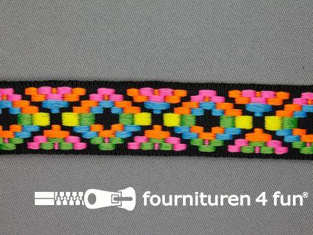 Indianenband 24mm multicolor neon