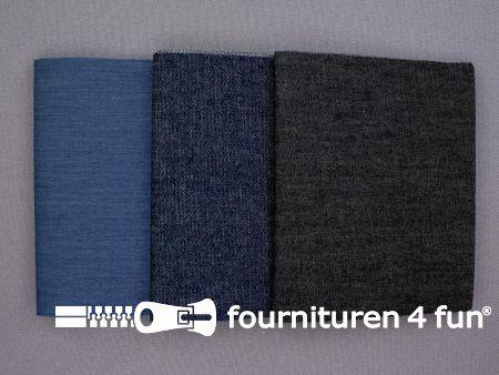 Reparatiedoeken set 3 stuks jeans blauw / zwart