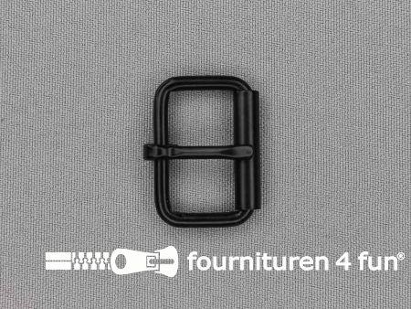 Metalen rolgesp 25mm zwart