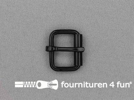 Metalen rolgesp 20mm zwart