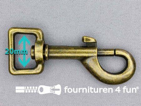 Musketon 20mm brons heavy duty