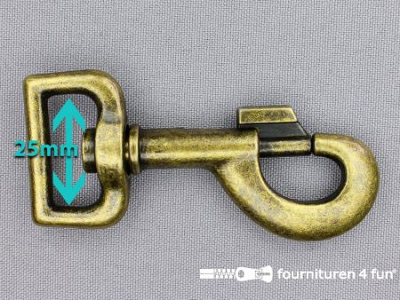Musketon 25mm brons heavy duty