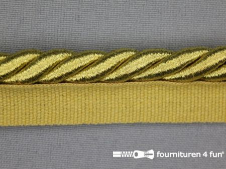Gedraaid paspelband 22mm goud