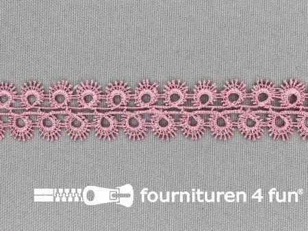 Nylon broderie 20mm oud roze