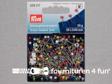 Prym Glaskopspelden 0.60x30mm zilver - 20 gram - 029217