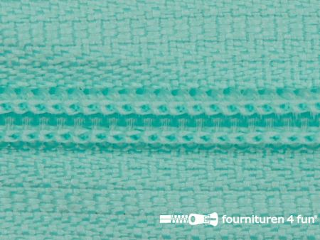 Niet deelbare nylon rits 3mm mint blauw