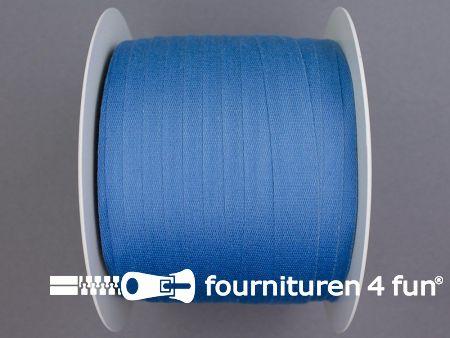 Rol 100 meter katoenen keperband 14mm jeans blauw